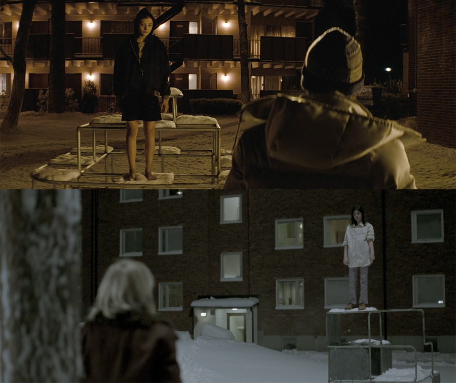 let me in vs let the right one in brief visual comparison movies. Black Bedroom Furniture Sets. Home Design Ideas