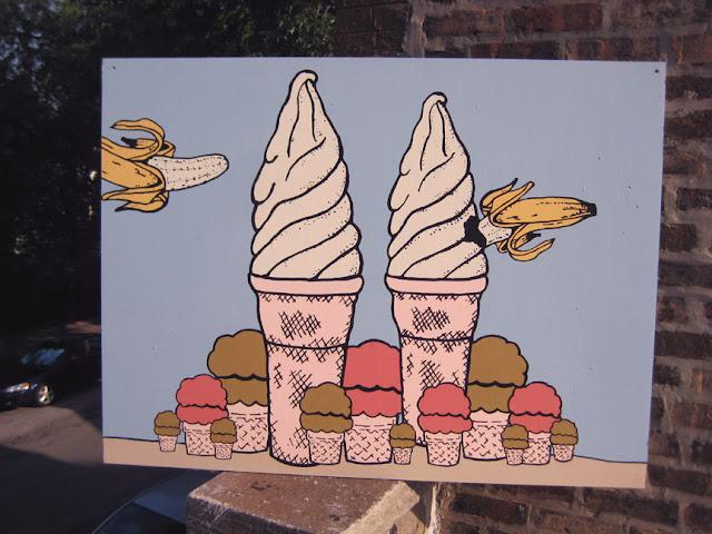 ICE CREAM CONE ART ROUNDUP from Honey and Smoke Studio - Tragedy in Dessert City by Derek Erdman