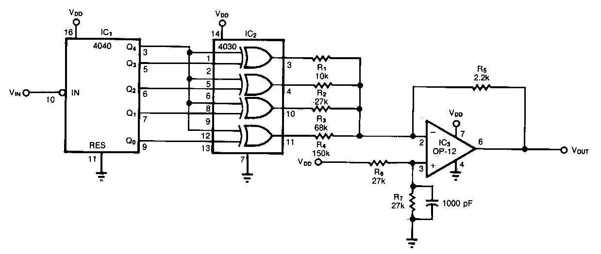 Super Circuit Diagram Pulse Train To Sinusoid Converter