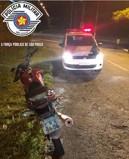POLÍCIA MILITAR DE REGISTRO-SP RECUPERA MOTOCICLETA FURTADA EM SOROCABA EM 2017
