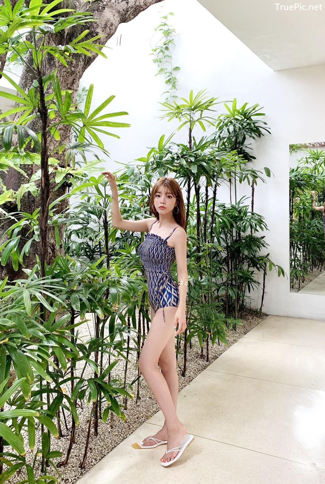 Image Korean Fashion Model - Cha Yoo Jin - Diamond Smoke Monokini - TruePic.net - Picture-8
