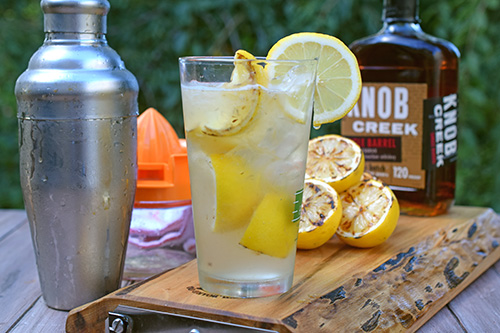Fresh hand made lemonade with a splash of Knob Creek Bourbon