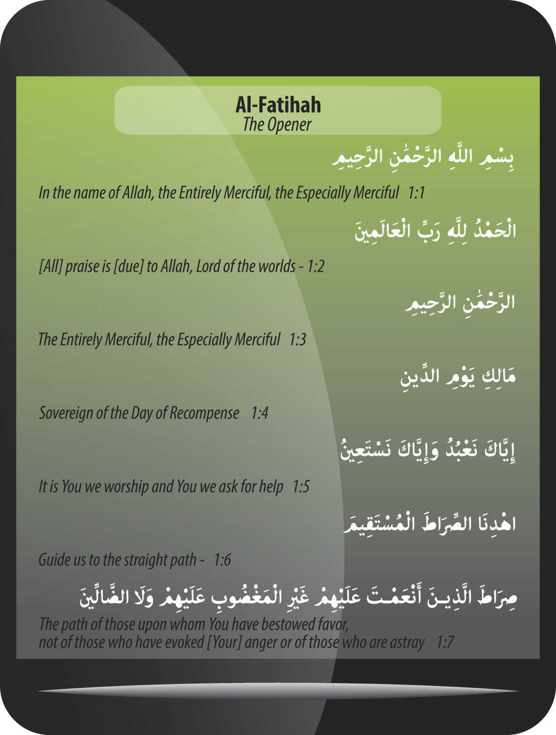 surah fatiha english translation