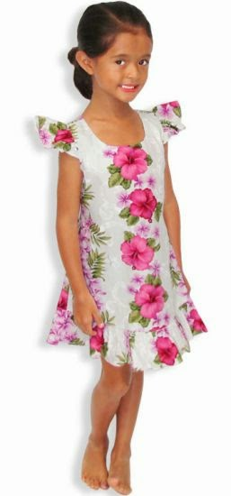 8280d8ede3d0 Little girls can find matching floral dresses to look just like mommy.  Short or long girls' Hawaiian ...