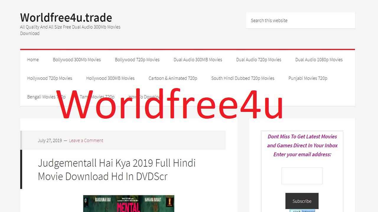 WorldFree4u Download HD Movies