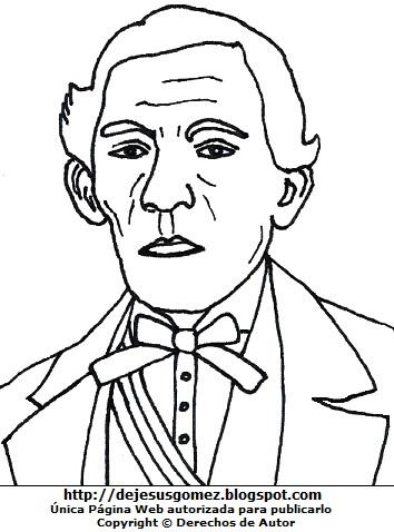 Dibujo de José Bernado Alcedo para pintar, colorear o imprimir. Dibujo de José Bernardo Alcedo hecho por Jesus Gómez