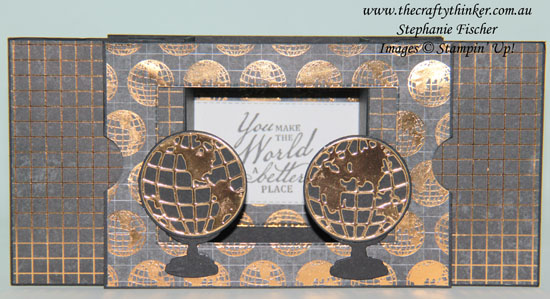 www.thecraftythinker.com.au, Theatre Fold Fun Fold Card, Masculine Card, World of Good Suite, Stampin Up