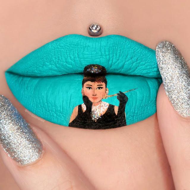 Kreatif! Lukisan Atas Bibir Ini Buat Anda Terpukau