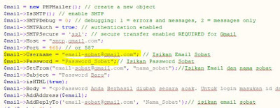 Form Lupa Password Keren Menggunakan Library PHPMailer