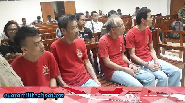 4 Pelaku Penyelundup 1,6 Ton Sabu Dituntut Hukuman Mati