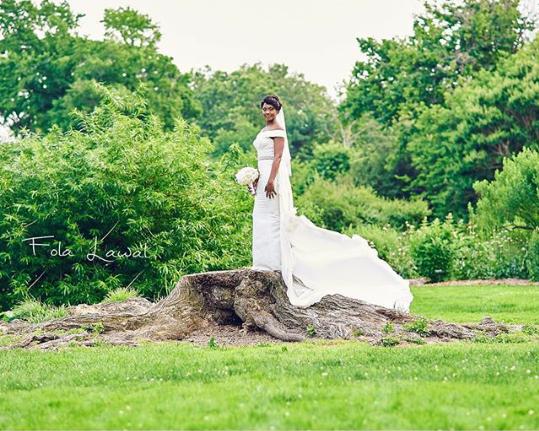 Osas Ighodaro White Wedding