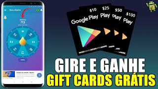 Como GANHAR GIFT CARDS GIRANDO a ROLETA com esse aplicativo: Gire e Ganhe