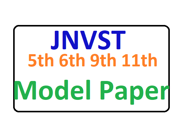 JNVST Model Paper 2020 5th 6th 9th 11th Class Hindi & English