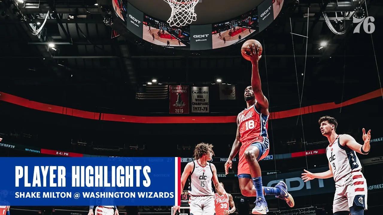 Shake Milton 18pts 4ast vs WAS | March 12, 2021 | 2020-21 NBA Season