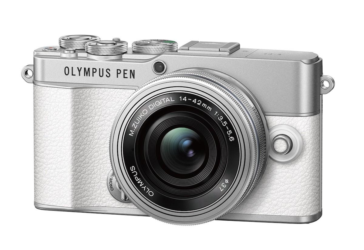 Olympus Pen E-P7, белый с серебристым