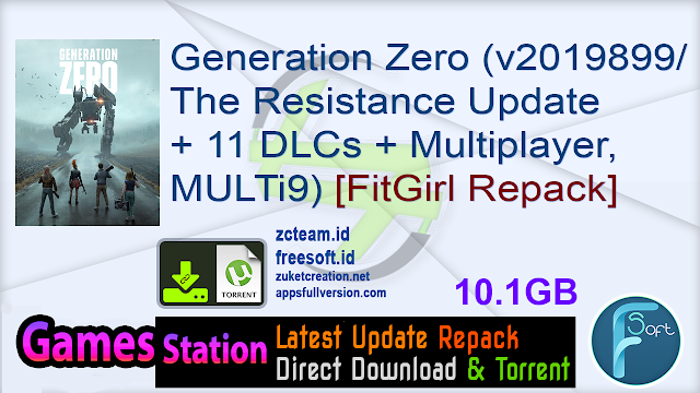 Generation Zero (v2019899The Resistance Update + 11 DLCs + Multiplayer, MULTi9) [FitGirl Repack]