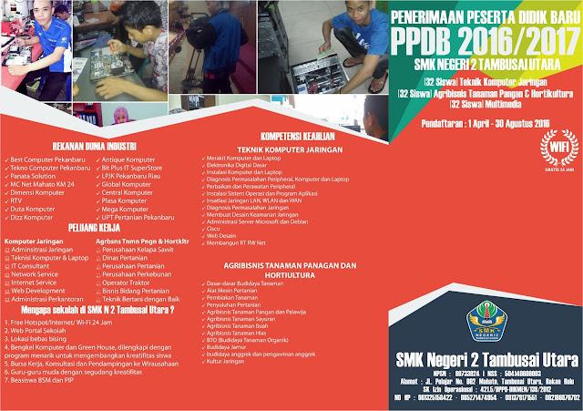 Desain Brosur PSB/PPDB Penerimaan Siswa Baru untuk SMK 2016