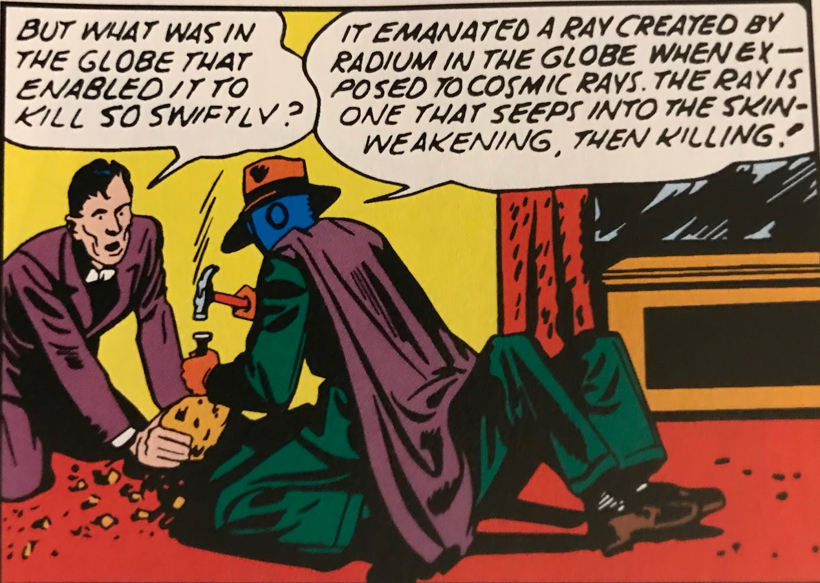 This Is To My Knowledge The Only Time A Villains Unmasking Was Achieved Through Hammer And Chisel