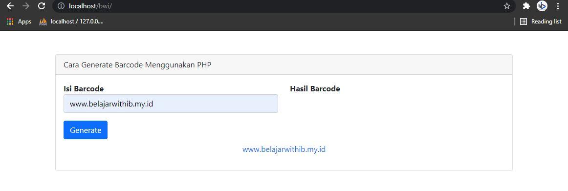 Cara Generate Barcode Menggunakan PHP