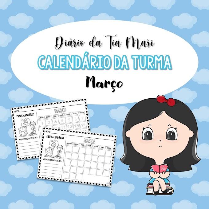 Calendário da Turma - Março (NOVO MODELO)