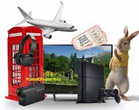 Logo Concorso ''Fresón de Palos e Peter Rabbit'': vinci Action Cam, auricolari Bluetooth, viaggio,PSP e Smart TV