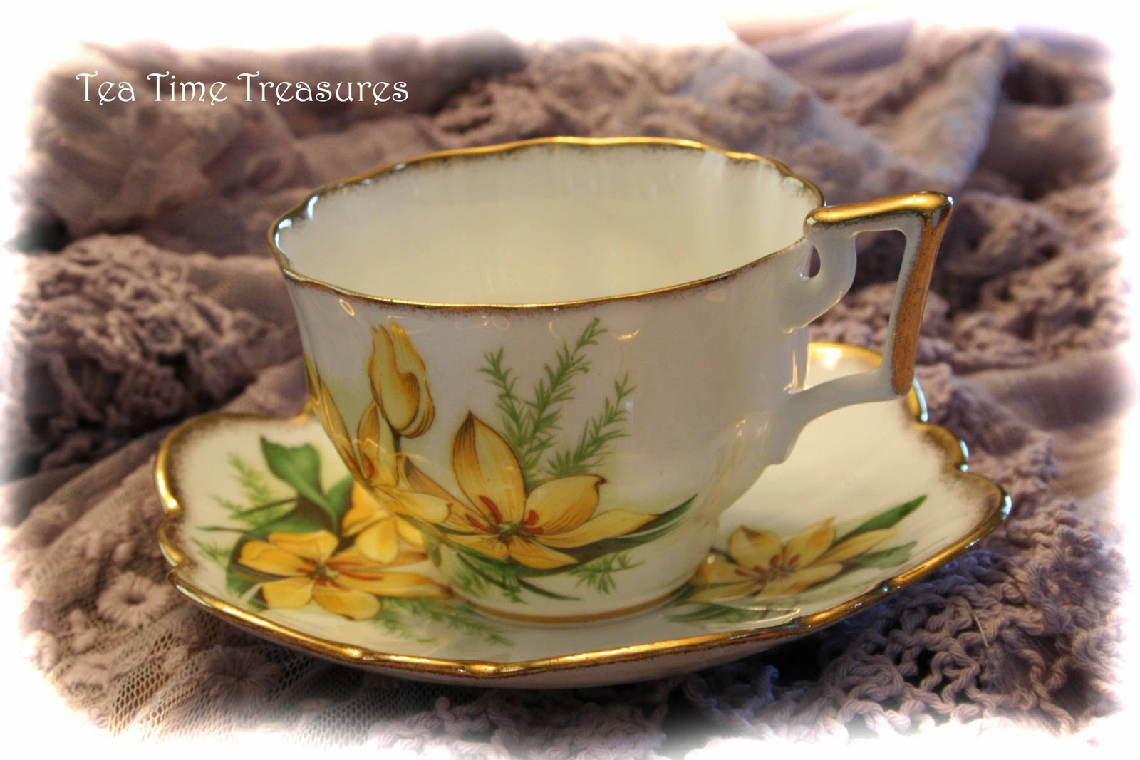 Vintage Clip Art Tea Cups