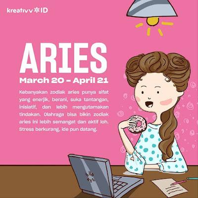 Tips tambah kreatif zodiak ARIES