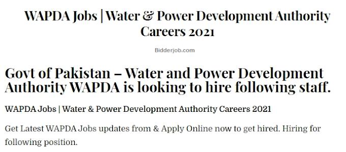 Careers WAPDA  Govt Job GEPCO 2021 -  Wapda Jobs Online Apply