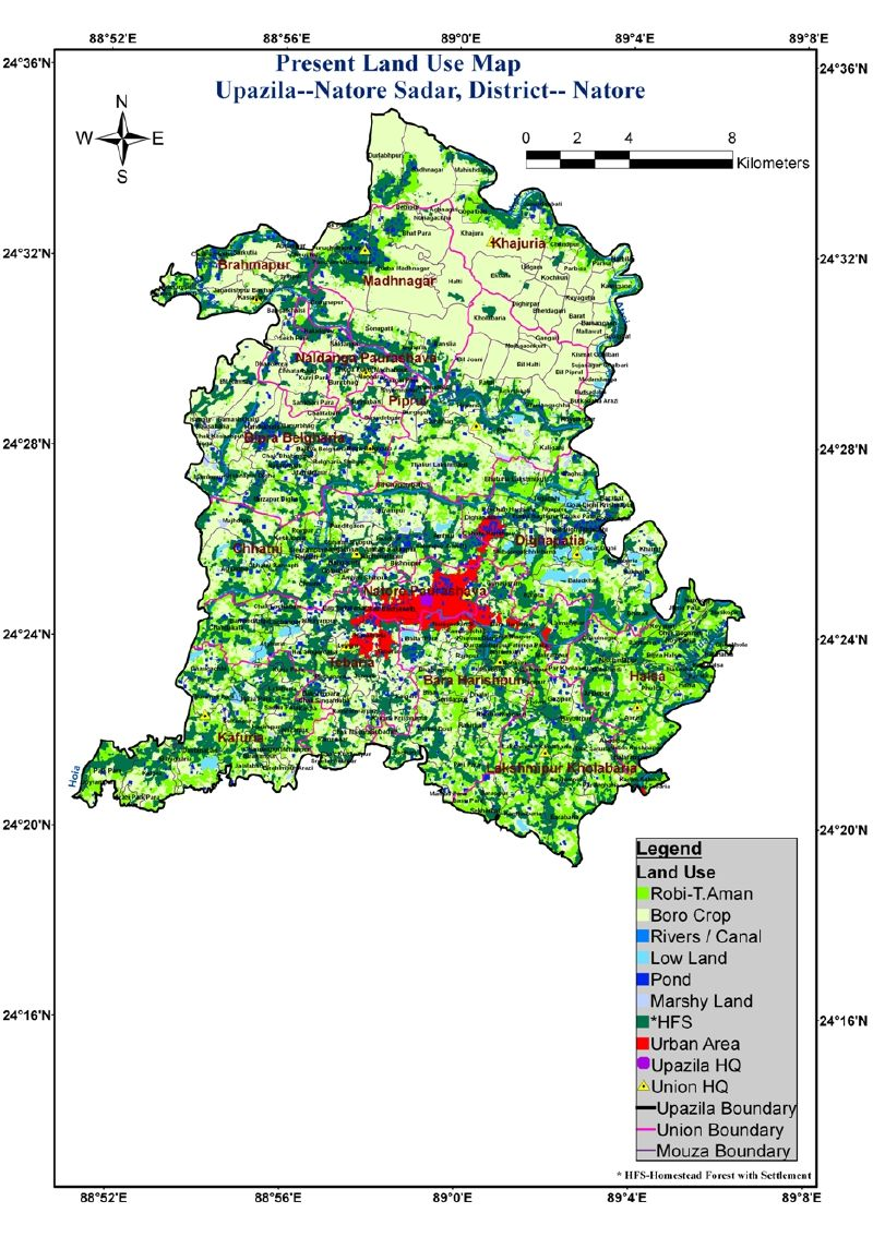 Natore Sadar Upazila Mouza Map Natore District Bangladesh