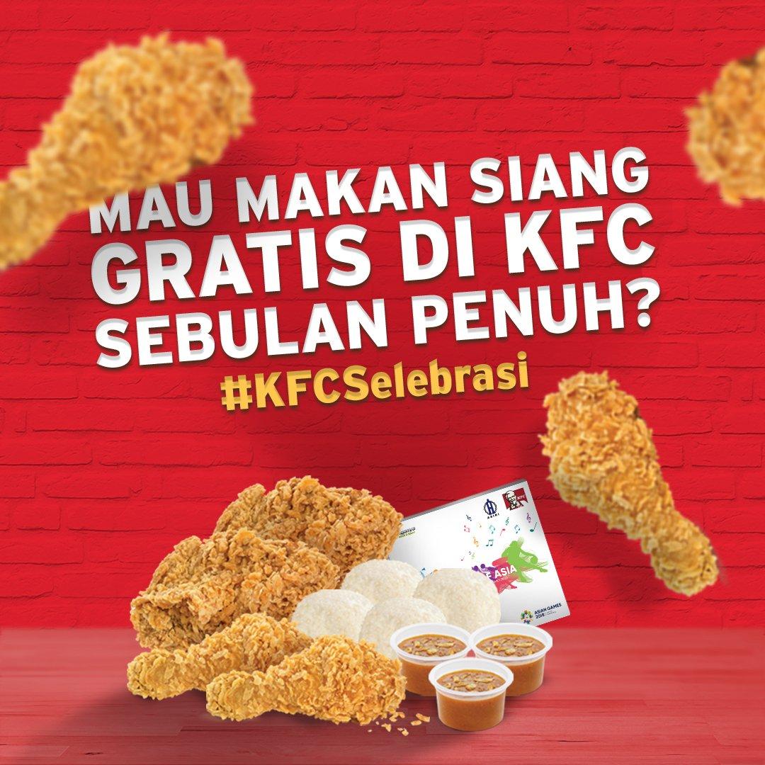 KFC - Promo Makan Gratis KFC Sebulan Dengan Ikut Kontes KFC Selebrasi 2018