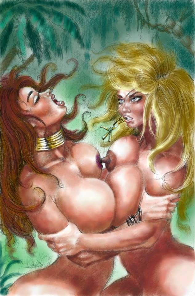 Catfight erotic western