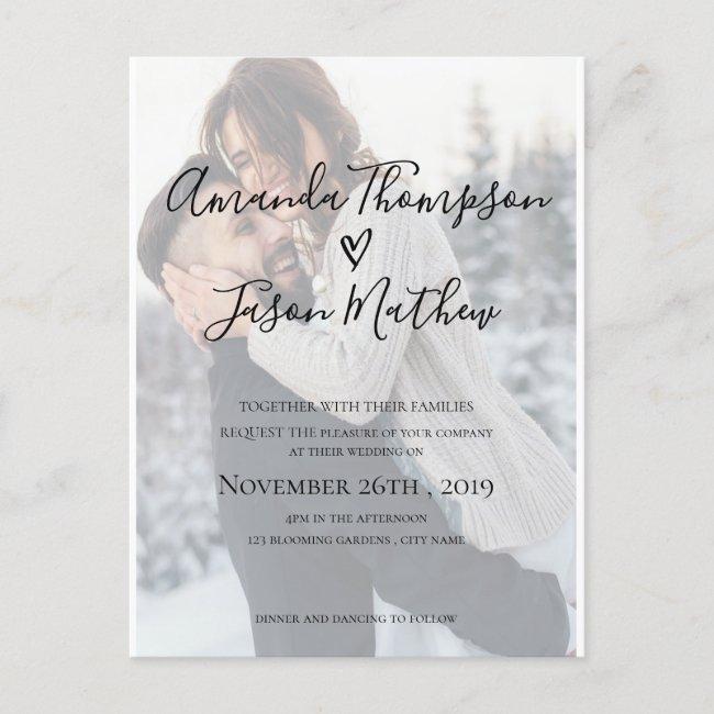 Photo Wedding Invitation Designs