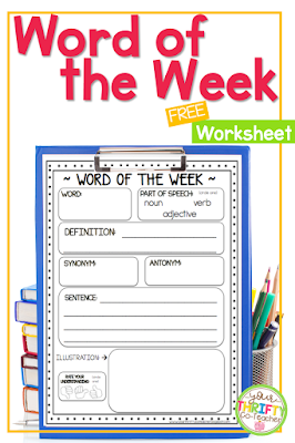 Having a Word of the Week routine is an effectively way of getting students to interact with and learn the meaning of new words. It helps students with their vocabulary acquisition which directly results in improved reading and writing skills.