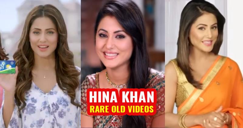 hina khan rare old photo video ad commercials