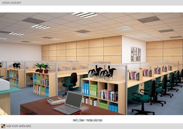 Những chiếc bàn làm việc văn phòng có tấm vách ngăn module ngăn cách phòng làm việc cũng luôn là sự lựa chọn hoàn hảo