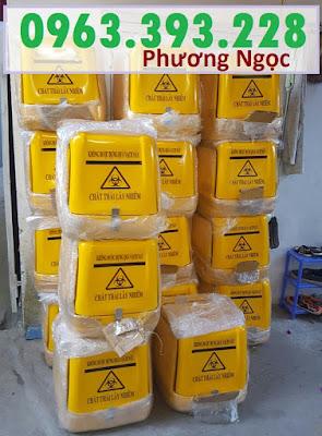 Thùng chở rác y tế, thùng vận chuyển chất thải y tế, thùng chở rác thải nguy hại TCCTYT6