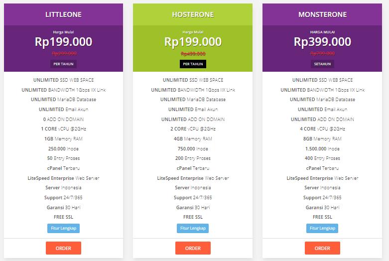 Pilihan Paket Hosting di Hoster.co.id
