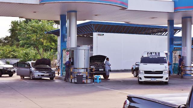 Изображение одной из автозаправок, Тайланд
