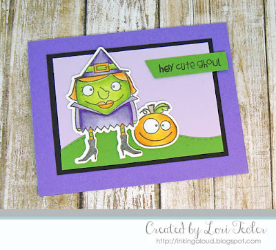 Hey Cute Ghoul card-designed by Lori Tecler/Inking Aloud-stamps and dies from Paper Smooches