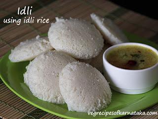 Idli recipe using idli rice in Kannada