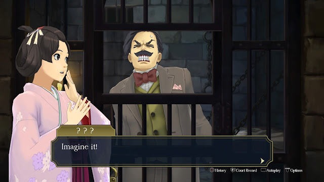 The Great Ace Attorney Chronicles sobreactuar