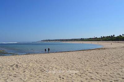Pantai sisi Selatan dari Water Blow Nusa Dua - Backpacker Manyar