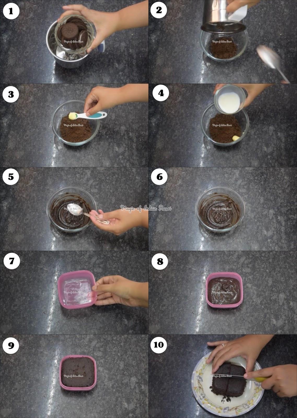 Oreo Brownie Sundae in Microwave Recipe - ओरियो ब्राउनी संडे माइक्रोवेव में - Priya R - Magic of Indian Rasoi