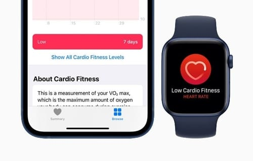 Apple Watch warns you if your cardio fitness is low