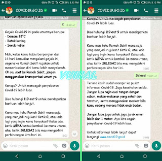 Cara Cek Info Virus Corona Terbaru Melalui Whatsapp Menkominfo 3