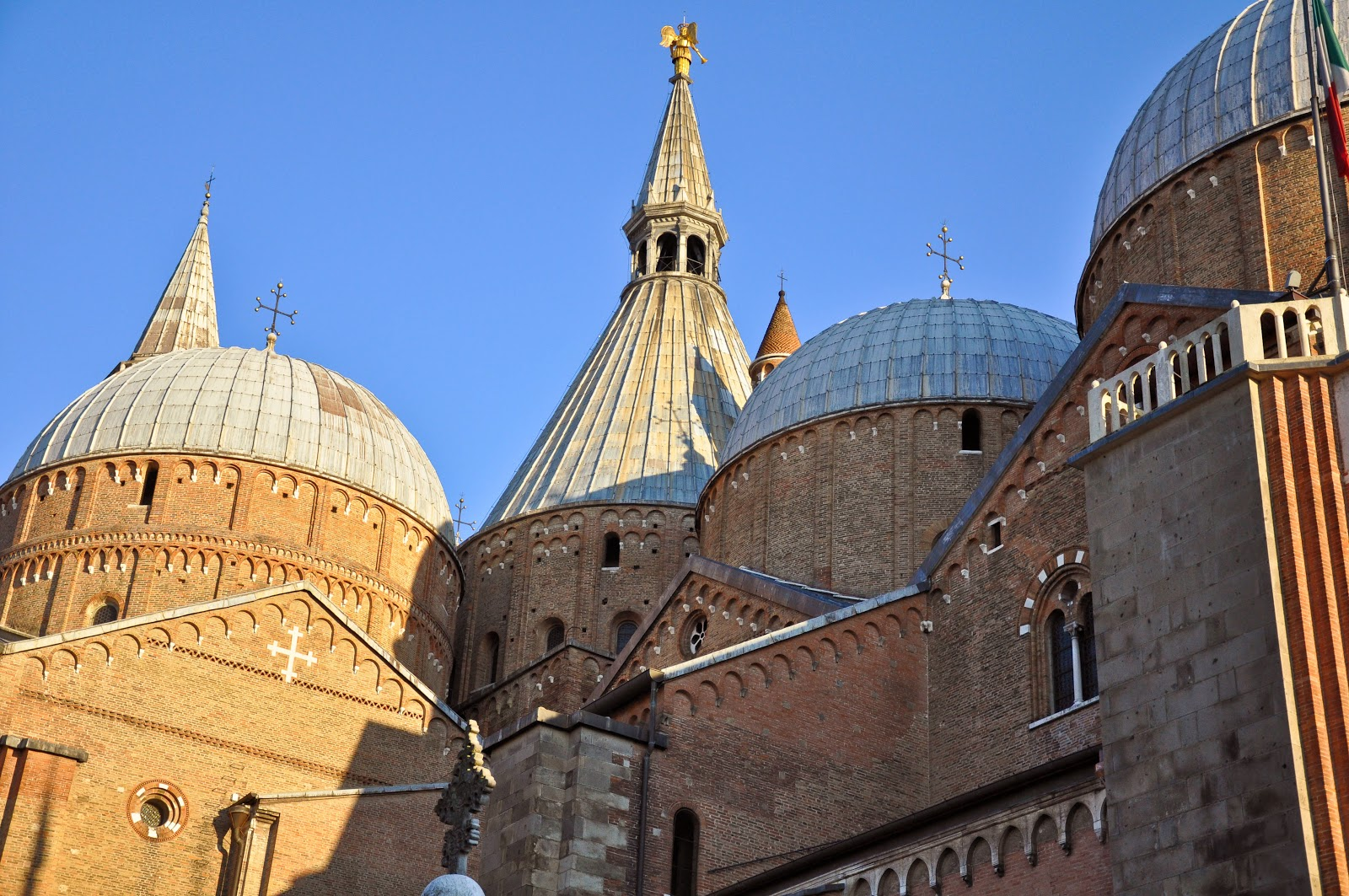 The domes of the Basilica of Saint Anthony in Padua, Italy