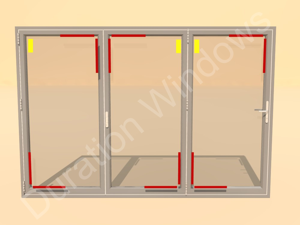 The Red Sections Display Where To Toe And Heel On A  Paneldoor All