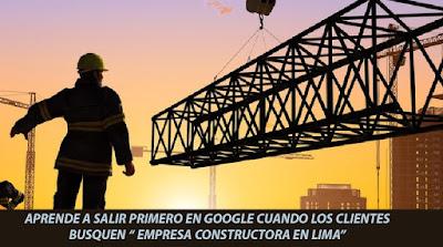 Primero Google Facebook Empresa Constructora Lima
