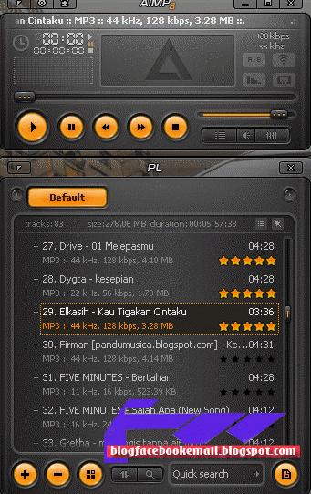 aplikasi pemutar lagu gratis AIMP