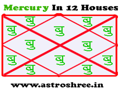 impact of mercury in 12 houses of kundli